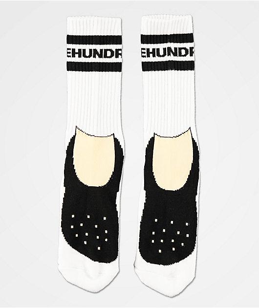 The Hundreds Footy White Crew Socks