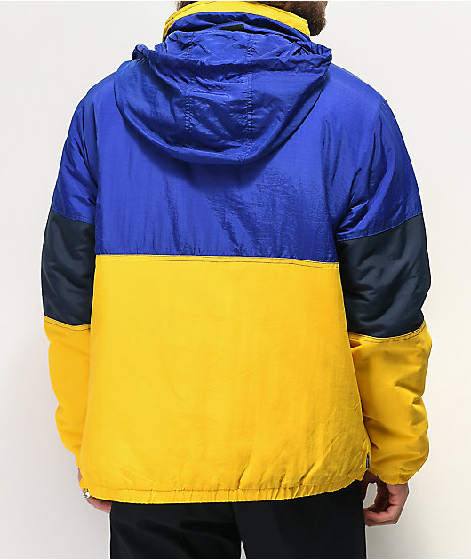 The Hundreds Reversion Blue & Yellow Anorak Puffer Jacket