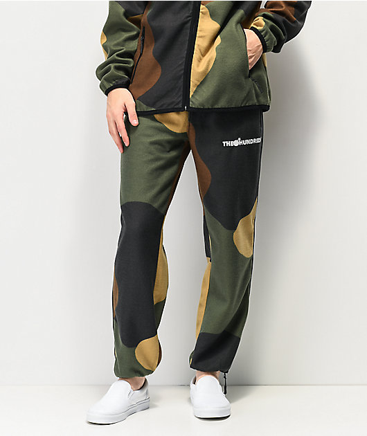 The Hundreds Shrubland Green Camo Sweatpants