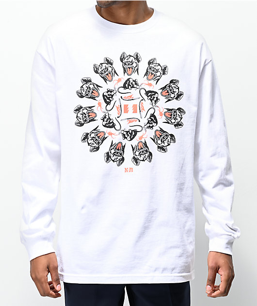 The Hundreds x Never Made Heads White Long Sleeve T-Shirt