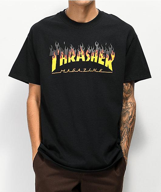 Thrasher BBQ Flame Black T-Shirt