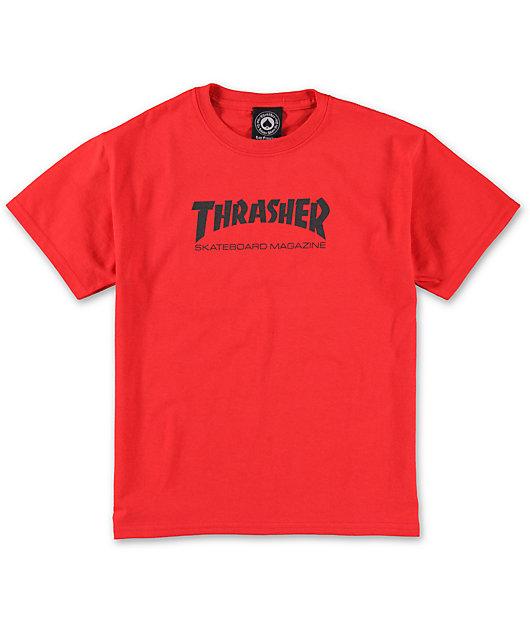 Thrasher Boys Mag Red T-Shirt