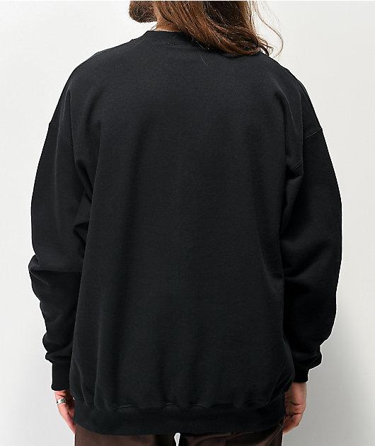 Thrasher Calligraphy Black Crew Neck Sweatshirt