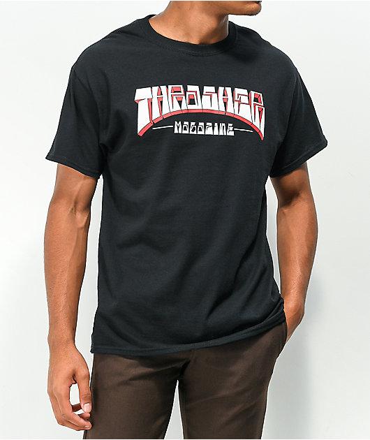 Thrasher Firme Logo Black T-Shirt