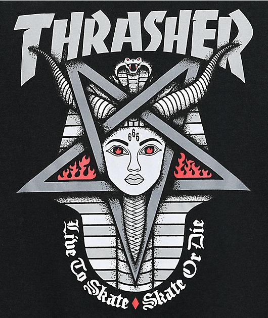 Thrasher Goddess Black T-Shirt