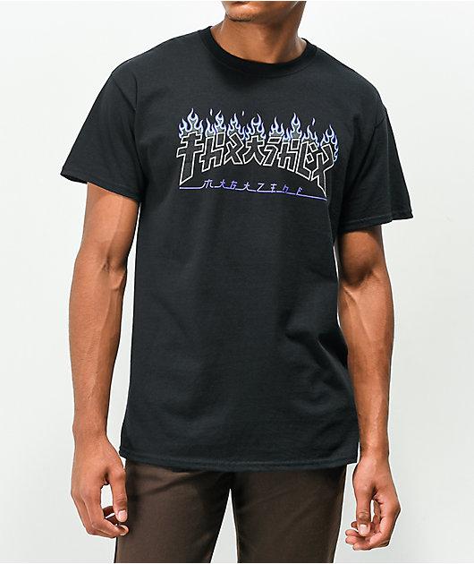Thrasher Godzilla Charred Black T-Shirt