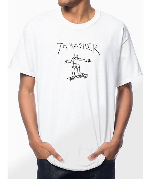 Thrasher Gonz camiseta blanca
