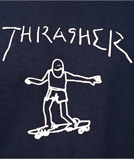 Thrasher Gonz camiseta en azul marino