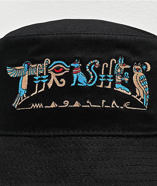 Thrasher Hieroglyphics Black Bucket Hat