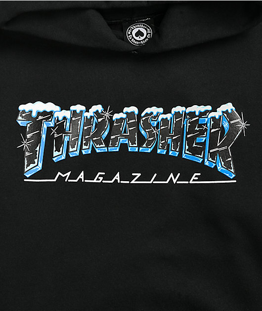 Thrasher Ice Black Hoodie