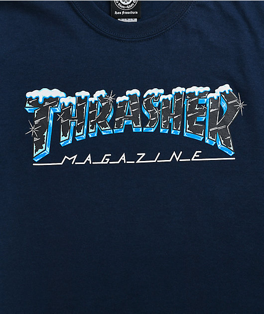 Thrasher Ice Navy T-Shirt
