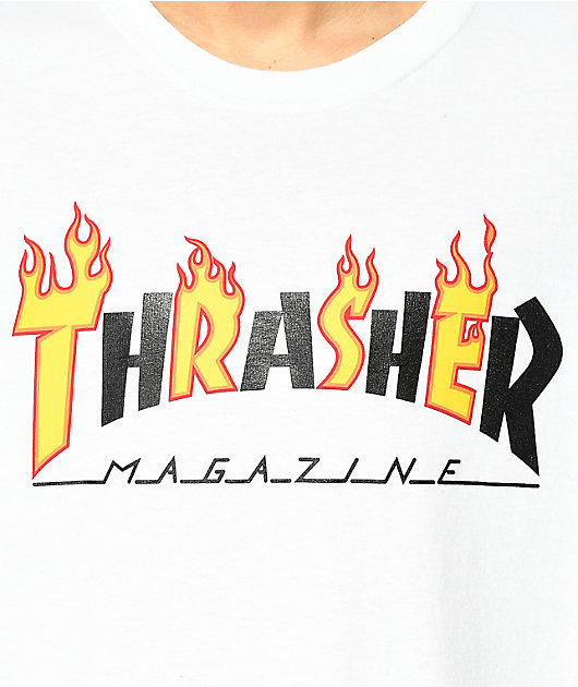 Thrasher Mag Flame White T-Shirt