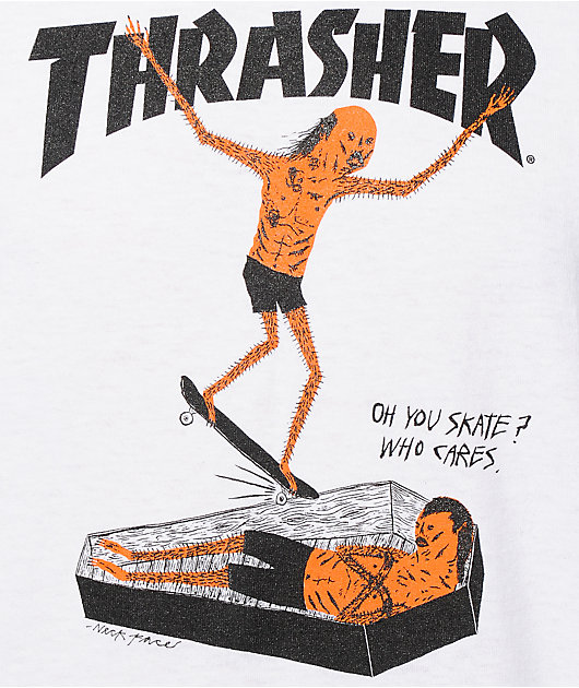 Thrasher Neck Face camiseta