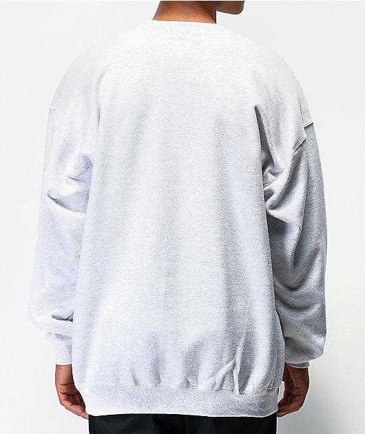 Thrasher Outlined Grey Crew Neck Sweatshirt