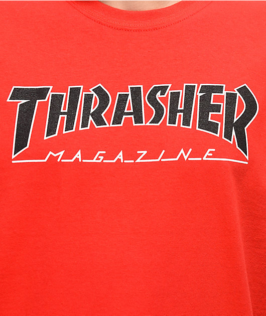 Thrasher Outlined camiseta roja