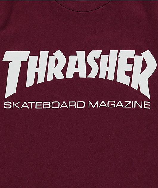 Thrasher Skate Mag camiseta en color borgoño