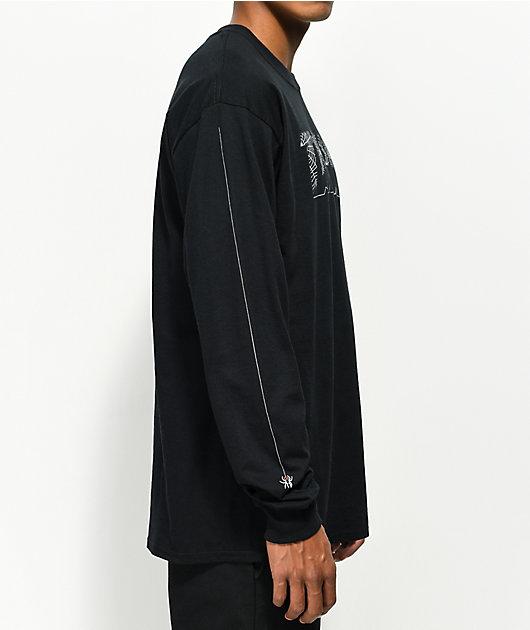 Thrasher Web Long Sleeve Black T-Shirt