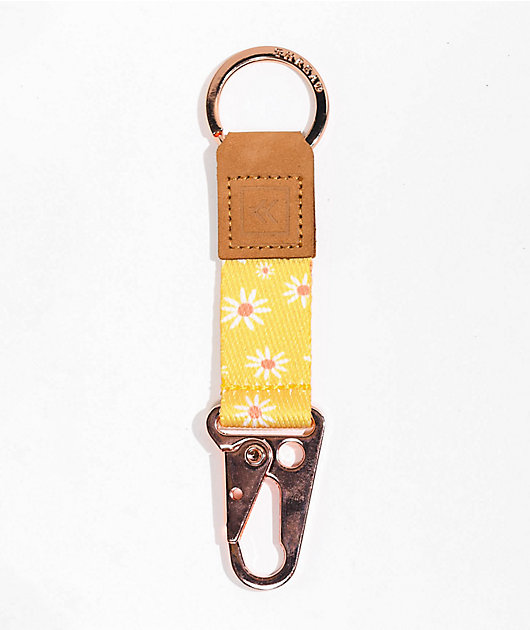 Thread Chelsea Yellow & Rose Gold Keychain Clip