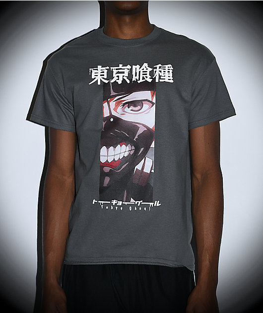 Tokyo Ghoul Ken Kaneki camiseta gris