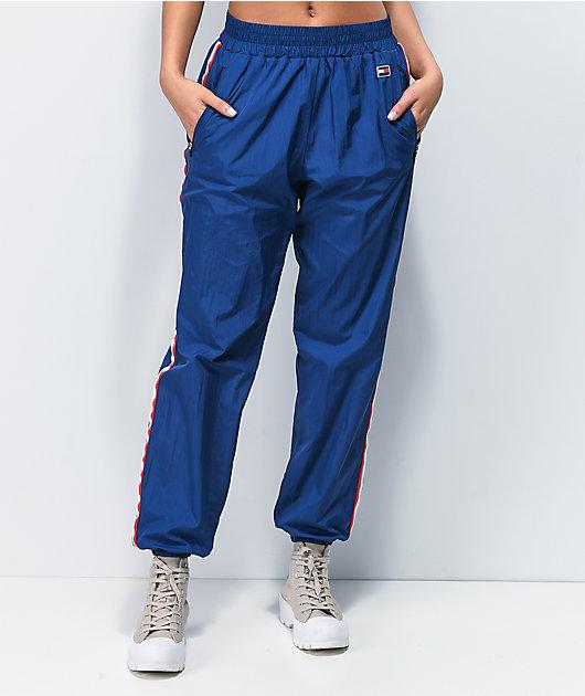 Tommy Hilfiger Navy Blue Crinkle Jogger Pants