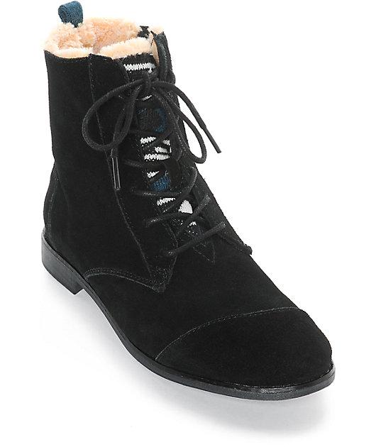 Toms Alpa Brown Black Boots   Zumiez