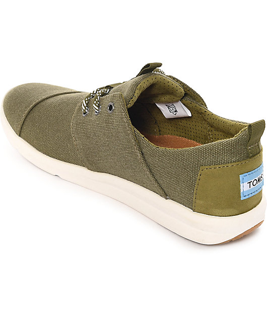 Toms Del Rey Olive Washed Canvas Women