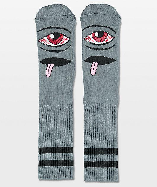 Toy Machine Bloodshot Grey Crew Socks