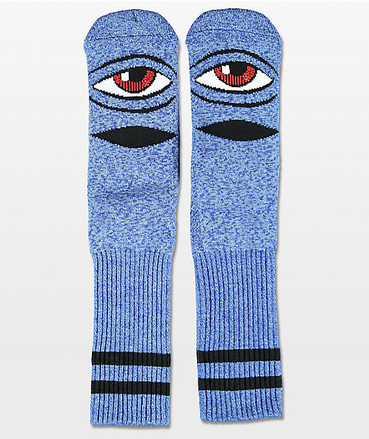 Toy Machine Sect Eye Heather Blue Crew Socks