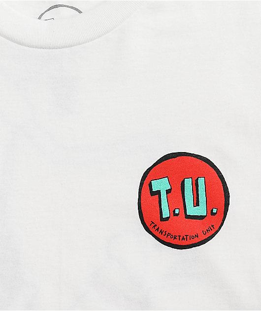 Transportation Unit Dog Walker White T-Shirt