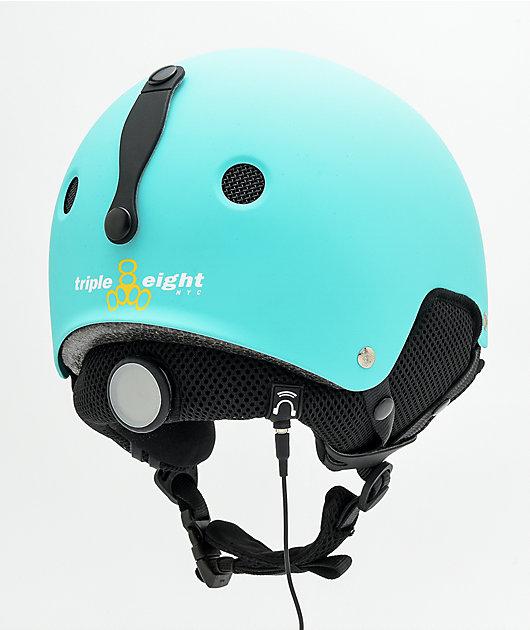 Triple Eight Brainsaver Audio Baja Teal Snowboard Helmet