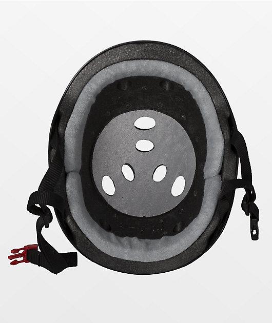 Triple Eight Certified Sweatsaver Black Rubber Multi-Sport Helmet