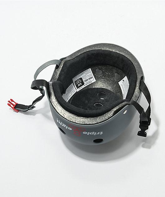 Triple Eight Certified Sweatsaver Carbon Grey Rubber Multi-Sport Helmet