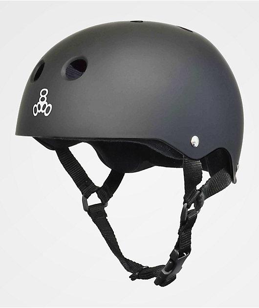 Triple Eight Get Used To It Sweatsaver Matte Grey Skateboard Helmet