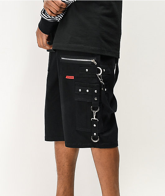 Tripp NYC Black Bondage Shorts