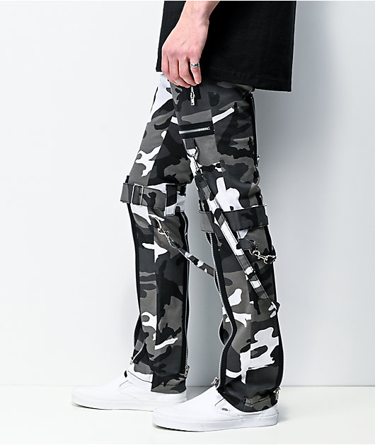 Tripp NYC Grey Camo Bondage Pants