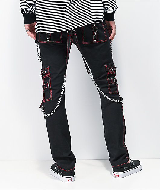 Tripp NYC No Excuses pantalones negros y roja con tirantes