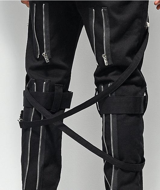 Tripp NYC Slim Black Bondage Pants