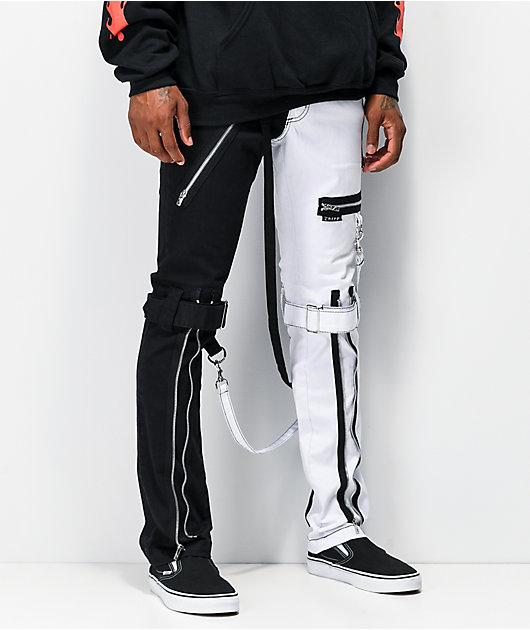 Tripp NYC Split Black & White Bondage Pants