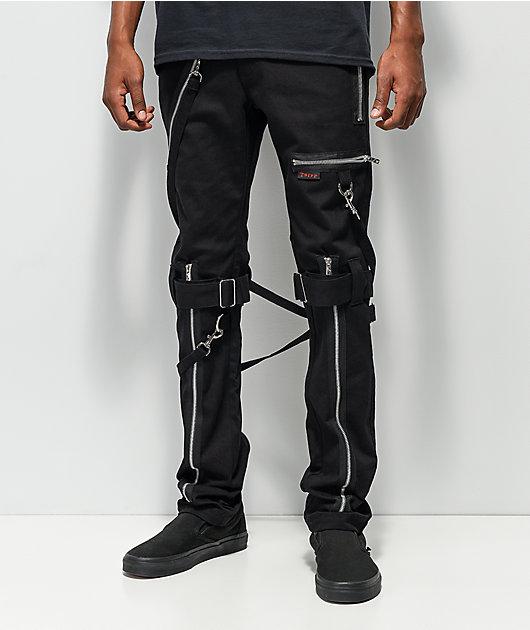 Tripp NYC pantalones negros ajustados con tirantes