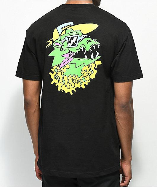 Trippy Burger Dragon Black T-Shirt
