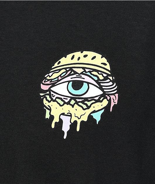 Trippy Burger Logo Black T-Shirt