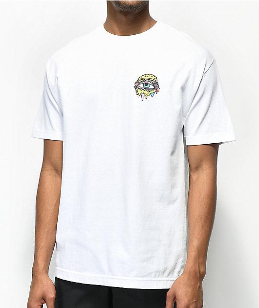Trippy Burger Weights White T-Shirt