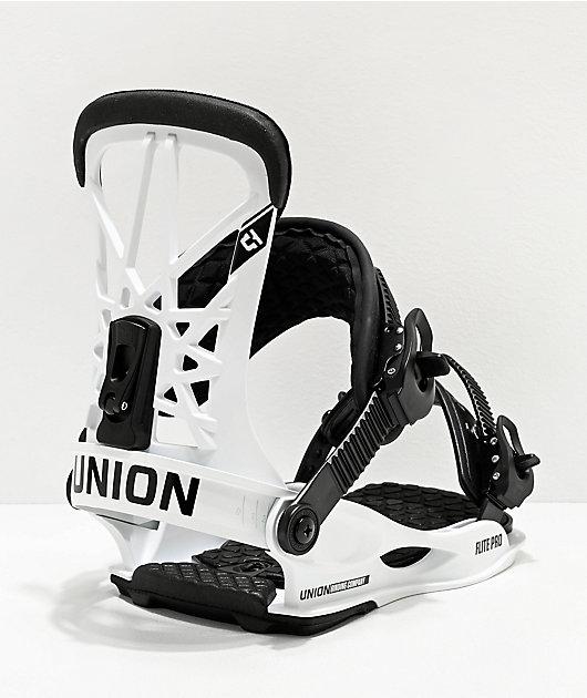 Union Flite Pro White & Black Snowboard Bindings 2020
