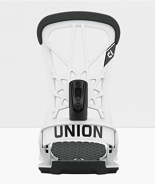 Union Flite Pro White Snowboard Bindings 2021
