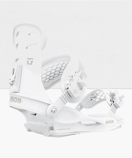 Union Rosa White Snowboard Bindings Women's 2021