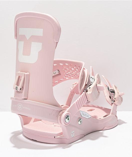 Union Women's Trilogy Pink Snowboard Bindings 2022