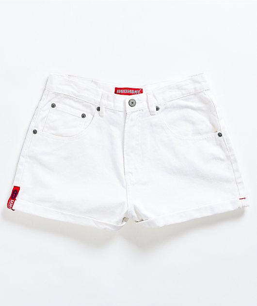 Unionbay Back Tab White Denim Shorts