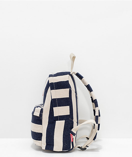 Unionbay Blue & White Stripe Mini Backpack
