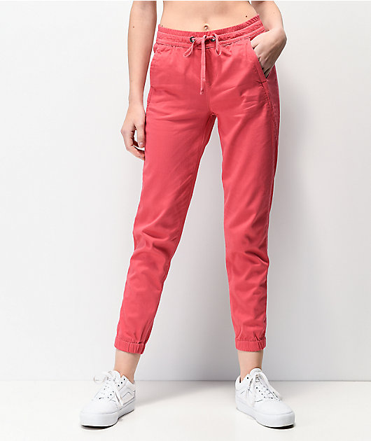 Unionbay Caylee Pink Sateen Jogger Pants