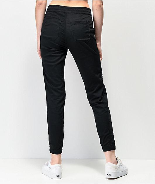 Unionbay Caylee jogger pantalones de satén negro